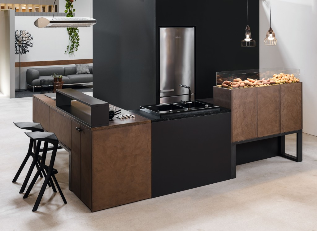 nouveaut 2015 fa ade en b ton rouille brun cuisine annecy 74. Black Bedroom Furniture Sets. Home Design Ideas